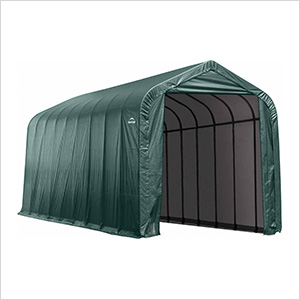 16x40x16 ShelterCoat Peak Style Shelter (Green Cover)