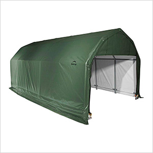 12x24x9 ShelterCoat Barn Style Shelter (Green Cover)
