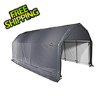 ShelterLogic 12x28x9 ShelterCoat Barn Style Shelter (Gray Cover)
