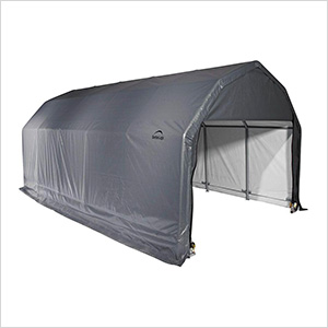12x28x9 ShelterCoat Barn Style Shelter (Gray Cover)