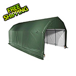 ShelterLogic 12x28x9 ShelterCoat Barn Style Shelter (Green Cover)