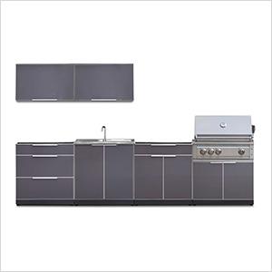 Aluminum Slate 7-Piece Outdoor Kitchen Set