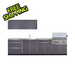 NewAge Outdoor Kitchens Aluminum Slate 9-Piece Outdoor Kitchen Set with Countertops
