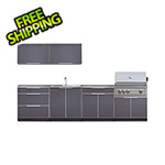 NewAge Outdoor Kitchens Aluminum Slate 9-Piece Outdoor Kitchen Set with Countertops and Covers