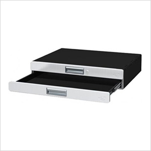 "Dual 3"" Powder Coated Storage Drawer Unit"