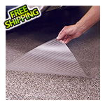 G-Floor 7.5' x 17' Clear Ribbed Floor Cover and Protector