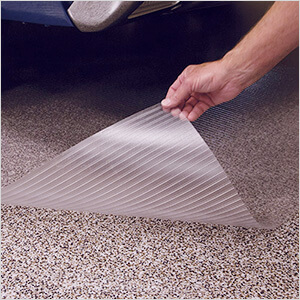 7.5' x 17' Clear Ribbed Floor Cover and Protector
