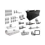 NewAge Garage Cabinets 40-Piece Steel Slatwall Accessory Kit