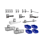 NewAge Garage Cabinets 20-Piece Steel Slatwall Accessory Kit