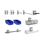NewAge Garage Cabinets 12-Piece Steel Slatwall Accessory Kit