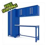 Proslat Fusion Pro 5-Piece Blue Garage Cabinet System