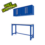 Proslat Fusion Pro 4-Piece Blue Garage Workbench System