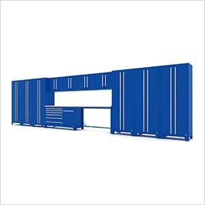 Fusion Pro 14-Piece Blue Garage Cabinet System