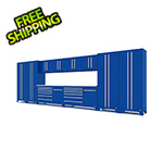 Proslat Fusion Pro 12-Piece Blue Garage Cabinet System