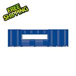 Proslat Fusion Pro 13-Piece Blue Garage Cabinet System