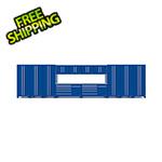 Proslat Fusion Pro 14-Piece Blue Garage Cabinet System