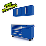 Proslat Fusion Pro 4-Piece Blue Garage Cabinet System