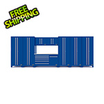 Proslat Fusion Pro 9-Piece Blue Garage Cabinet System