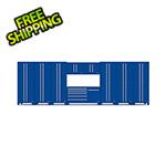 Proslat Fusion Pro 10-Piece Blue Garage Cabinet System