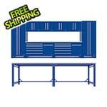 Proslat Fusion Pro 14 Piece Blue Garage Cabinet System