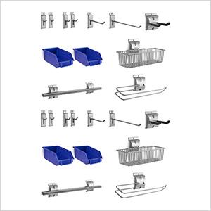 24-Piece Steel Slatwall Accessory Kit