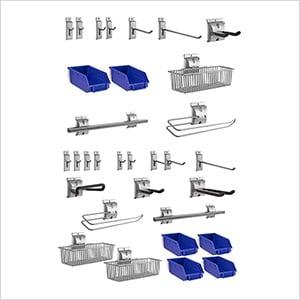 32-Piece Steel Slatwall Accessory Kit