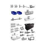 NewAge Garage Cabinets 52-Piece Steel Slatwall Accessory Kit