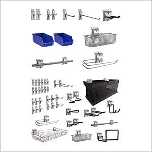 52-Piece Steel Slatwall Accessory Kit