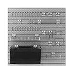 NewAge Garage Cabinets PRO Series 16 Sq. Ft. Steel Slatwall with 40-Piece Steel Slatwall Accessory Kit