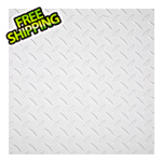 "G-Floor 12"" x 12"" Peel and Stick White Diamond Tread Tiles (20-Pack)"