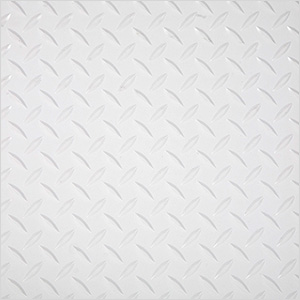"24"" x 24"" Peel and Stick White Diamond Tread Tiles (10-Pack)"