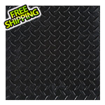 "G-Floor 24"" x 24"" Peel and Stick Black Diamond Tread Tiles (10-Pack)"