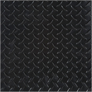 "24"" x 24"" Peel and Stick Black Diamond Tread Tiles (10-Pack)"