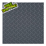 "G-Floor 24"" x 24"" Peel and Stick Grey Diamond Tread Tiles (10-Pack)"