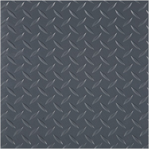 "24"" x 24"" Peel and Stick Grey Diamond Tread Tiles (10-Pack)"