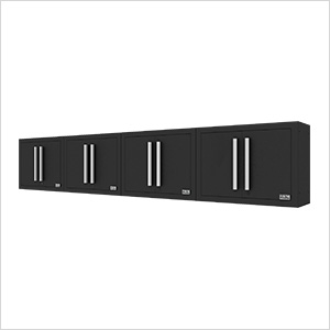 Fusion Pro Black Wall Mounted Garage Cabinet (4-Pack)