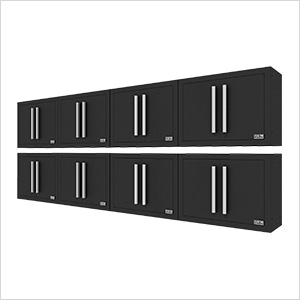 Fusion Pro Black Wall Mounted Garage Cabinet (8-Pack)
