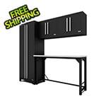Proslat Fusion Pro 5-Piece Black Garage Cabinet System