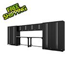 Proslat Fusion Pro 12-Piece Black Garage Cabinet System