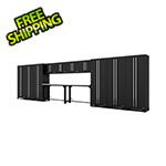 Proslat Fusion Pro 14-Piece Black Garage Cabinet System