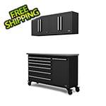 Proslat Fusion Pro 4-Piece Black Garage Cabinet System