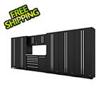 Proslat Fusion Pro 9-Piece Black Garage Cabinet System