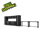 Proslat Fusion Pro 14 Piece Black Garage Cabinet System