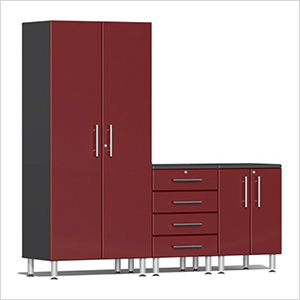 3-Piece Cabinet Kit in Ruby Red Metallic