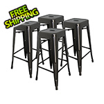 "MonsterRax 30"" Stacking Stool (Pack of 4)"