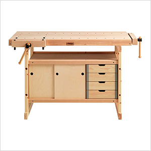 Hobby Plus 1340 Workbench with Cabinet and Accessory Combo