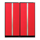 NewAge Garage Cabinets 2 x PRO 3.0 Series Red Multi-Use Lockers