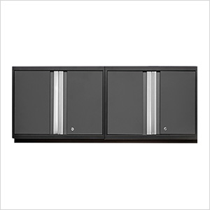 2 x PRO 3.0 Series Grey Wall Cabinets