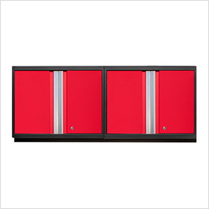 2 x PRO 3.0 Series Red Wall Cabinets