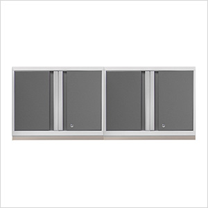 2 x PRO 3.0 Series White Wall Cabinets